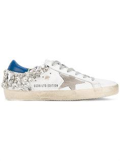кеды с кристаллами Superstar Golden Goose Deluxe Brand