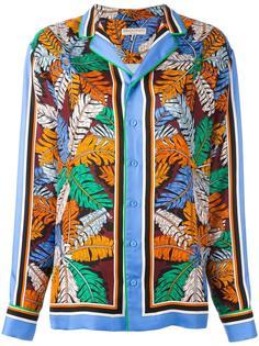 рубашка с лиственным принтом Emilio Pucci