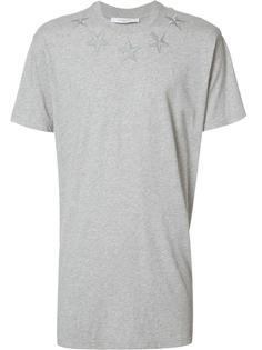 футболка с вышивкой звезд Givenchy
