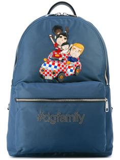 рюкзак с заплаткой Volcano DG family  Dolce & Gabbana
