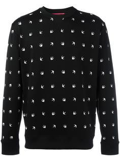 свитер с принтом ласточек McQ Alexander McQueen