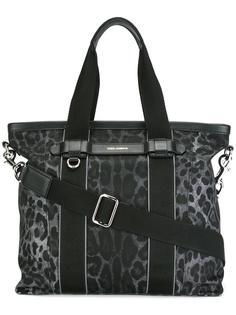 сумка-шоппер с леопардовым принтом Dolce & Gabbana