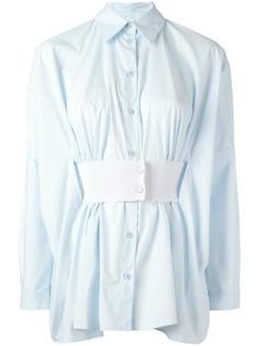 плиссированная рубашка с поясом Mm6 Maison Margiela