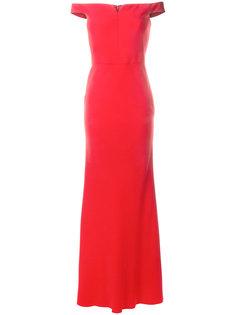 вечернее платье с открытым плечами Alexander McQueen