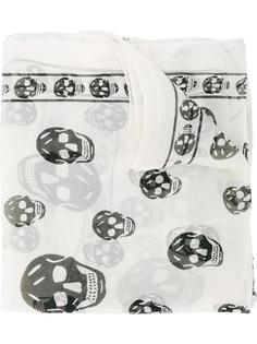 шифоновый шарф Skull Alexander McQueen