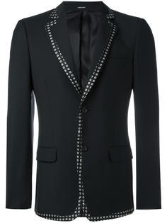пиджак с контрастной отделкой Alexander McQueen