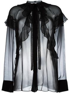 прозрачная блузка с оборками Givenchy
