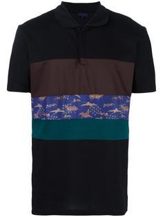футболка-поло с контрастными вставками с принтом Lanvin