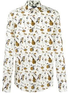 рубашка с принтом музыкальных инструментов Dolce & Gabbana