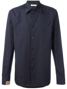 рубашка с контрастной вставкой Marni