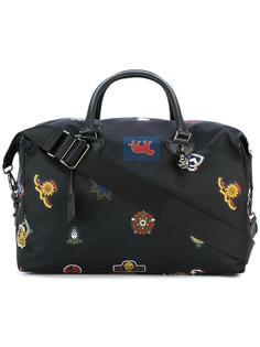 дорожная сумка с принтом нашивок Alexander McQueen