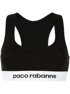 бюстгальтер с логотипом Paco Rabanne