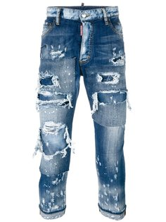 многослойные джинсы Glamhead Dsquared2