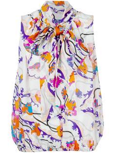 блузка с цветочным принтом  Emilio Pucci