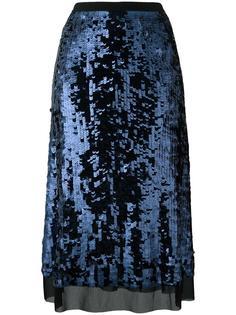 А-образная юбка с пайетками Tory Burch