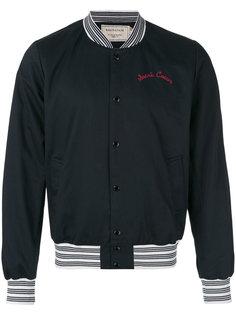 куртка с вышивкой Maison Kitsuné