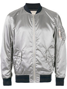 куртка-бомбер с металлическим отблеском Maison Kitsuné