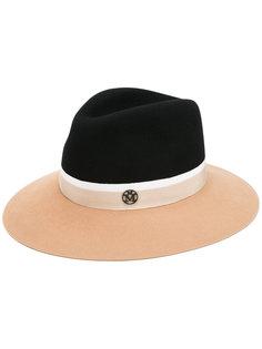 шляпа с контрастными полями Maison Michel