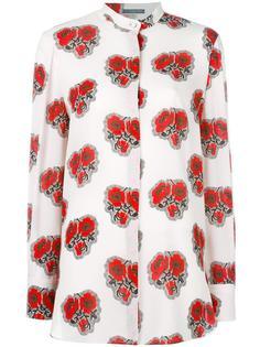 рубашка с принтом роз Alexander McQueen