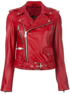 байкерская куртка с поясом Manokhi