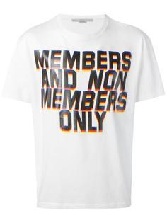 футболка с принтом Members Stella McCartney