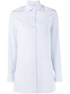 рубашка в тонкую полоску с вырезом на спине Valentino