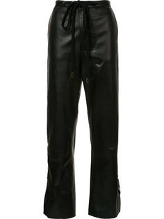 кожаные брюки на завязках Marni