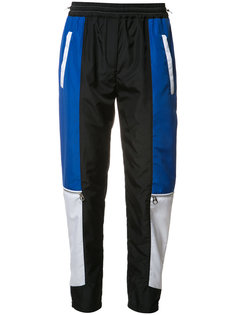 спортивные брюки с панельным дизайном Versace