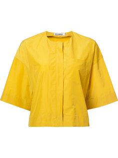 укороченная куртка  без воротника Jil Sander