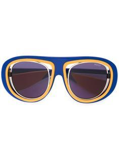 крупные солнцезащитные очки-авиаторы Emilio Pucci
