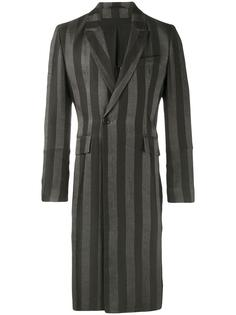 длинное пальто в полоску Ann Demeulemeester