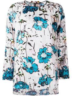 блузка с цветочным принтом   Antonio Marras