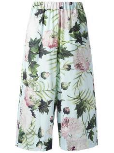 брюки с растительно-цветочным рисунком Antonio Marras