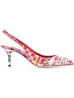 туфли-лодочки Bellucci с открытой пяткой Dolce & Gabbana
