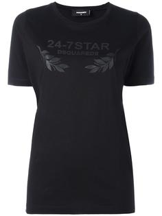 "футболка с логотипом ""24-7 STAR"" Dsquared2"