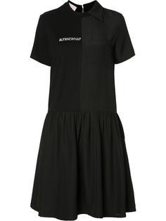 расклешенное платье с нагрудным карманом Alyx