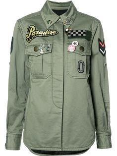 рубашка с заплатками в стиле милитари  Marc Jacobs