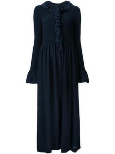 расклешенное платье с оборками Stella McCartney