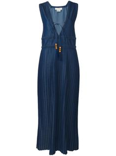 платье с плиссировкой и V-образным вырезом Veronique Branquinho