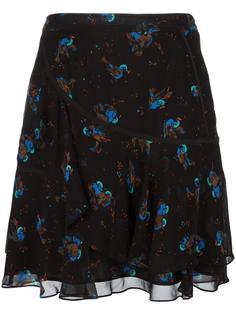 юбка с принтом птиц Coach