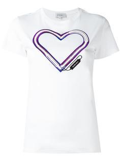 футболка с вышивкой сердца Carven