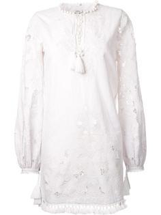 платье с длинными рукавами и кисточками Talitha