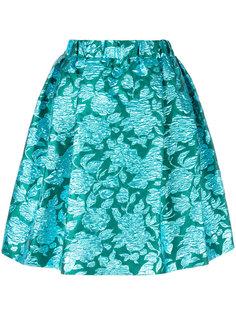жаккардовая юбка с принтом роз MSGM