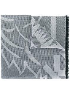 шарф с полосатой окантовкой Kenzo