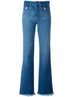 джинсы с необработанным низом Chloé