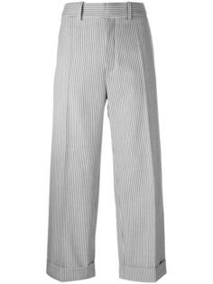 укороченные брюки в полоску Chloé