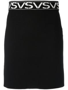 юбка с принтом-логотипом Versus