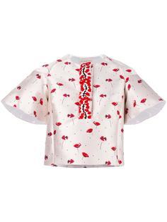блузка с цветочным узором Giambattista Valli