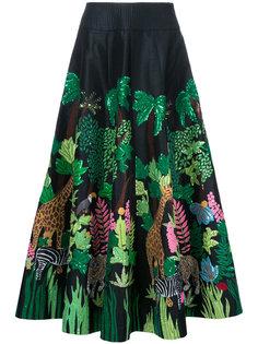 длинная юбка Safari Manish Arora