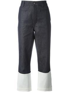 ждинсовые брюки палаццо дизайна колор-блок Loewe